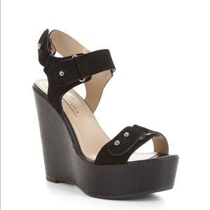 BCBG Maxazria Minea Snakeskin Wedge Sandal